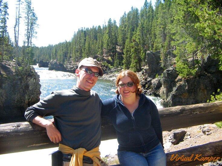 Lucas and Sarah at Yellowstone National Park.