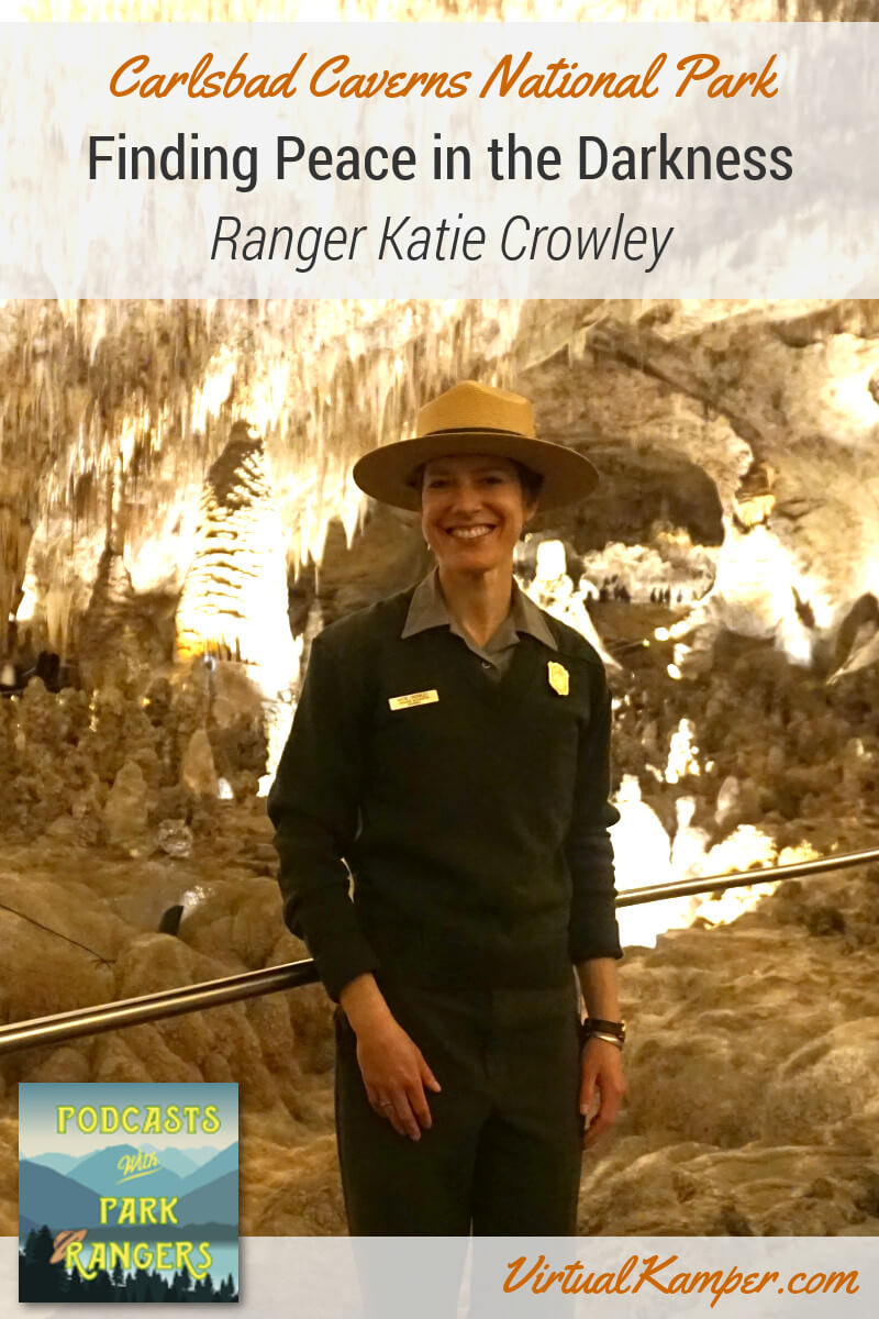 What's it like to be a Park Ranger at one of the biggest caves in the US? Let's explore the other-worldliness of Carlsbad Caverns National Park with Interpretive Park Ranger Katie Crowley to find out. She leads cave tours, helps answer visitor questions, and writes poetry about the sites she sees every day. On this episode of Podcasts with Park Rangers, we go on a search for peace in the darkness of Carlsbad Caverns. Click through to listen to this episode!