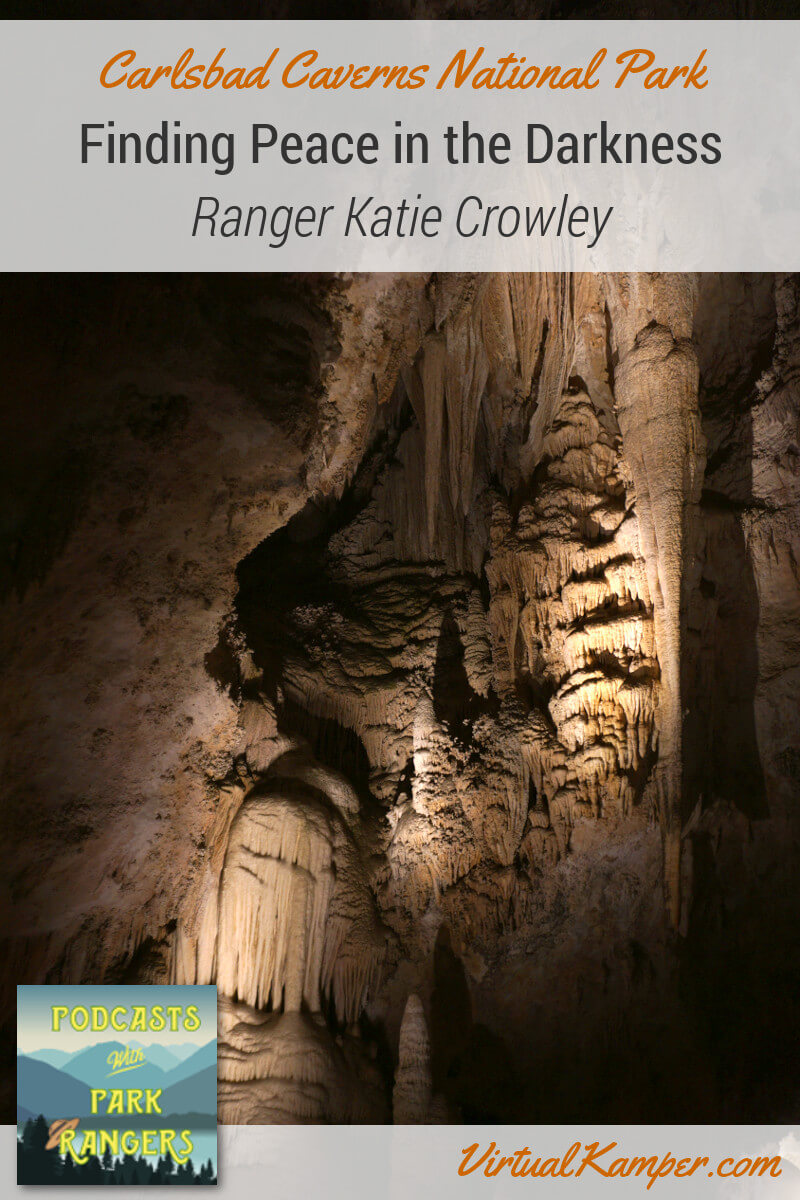 Interpretive Park Ranger Katie Crowley was unsure she loved caves until she had the chance to work in one. We explore the otherworldliness of Carlsbad Caverns and learn about cave geology. Join us on this episode of Podcasts with Park Rangers as we seek out the peace in the darkness of Carlsbad Caverns National Park. Click through to listen to this episode.