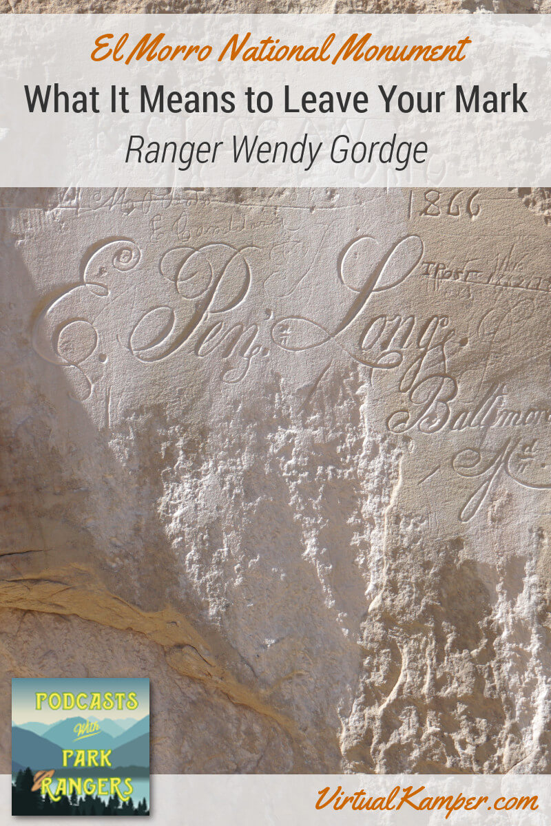 Ranger Wendy Gordge is extremely passionate about this hidden gem of the National Parks. We speak with her about El Morro National Monument on this episode of Podcasts with Park Rangers. A monument which covers 1000 years of human history and many people carved their name into a sandstone bluff. Click through to listen to the episode.