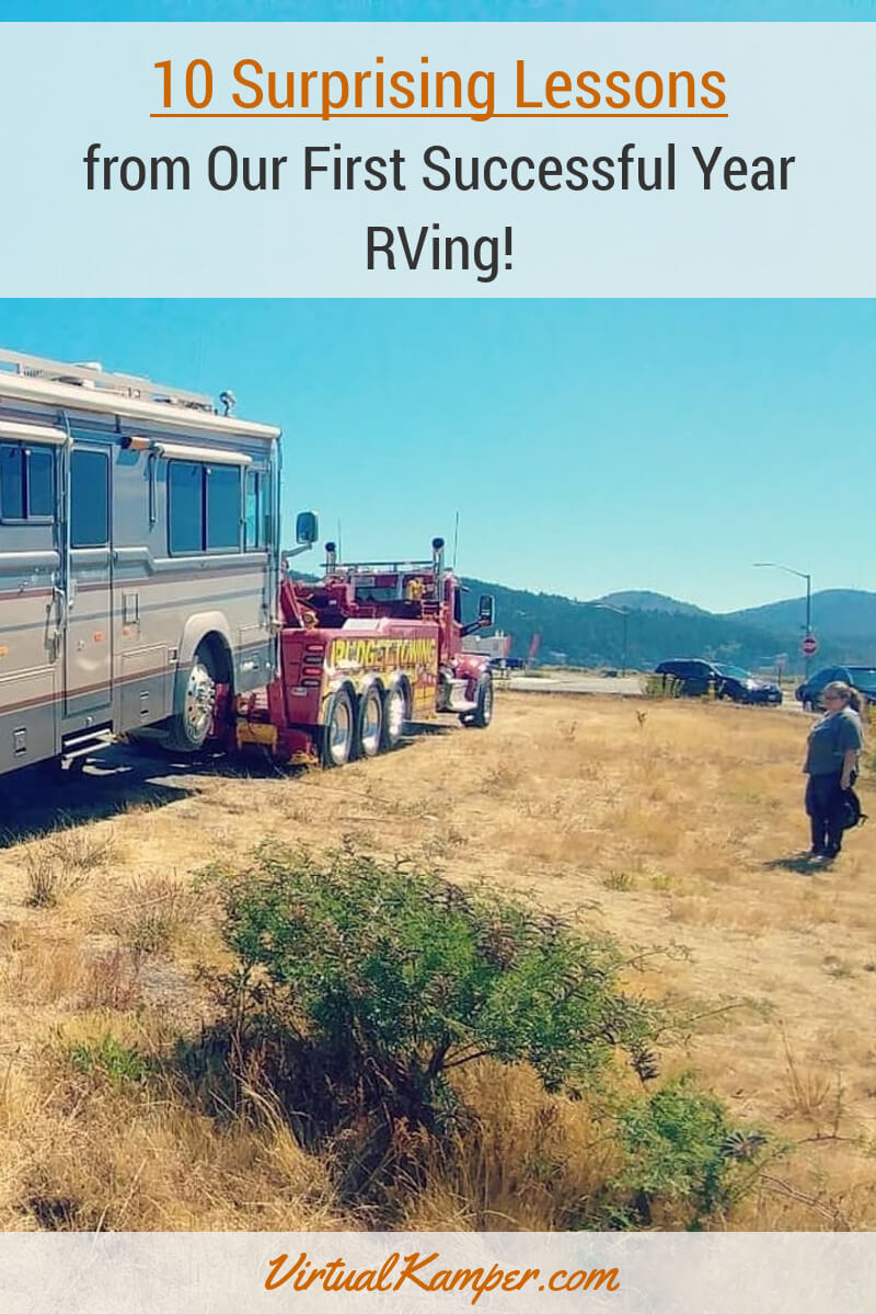 After a year of RVing, we realized living on the road full-time takes a considerable amount of work! We talk about the biggest lessons we learned and how we'll change things going forward. Click through to find out more about our experiences.