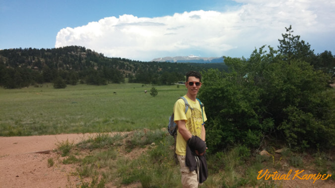 Lucas Hiking at Florissant Fossil Beds NM