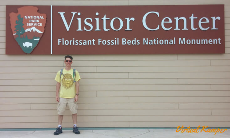 National Parks Road Trip: At the Visitor Center of Florissant Fossil Beds NM.