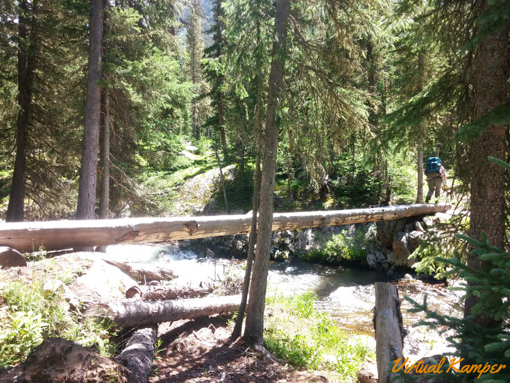 Log Bridge to Porcupine campsite