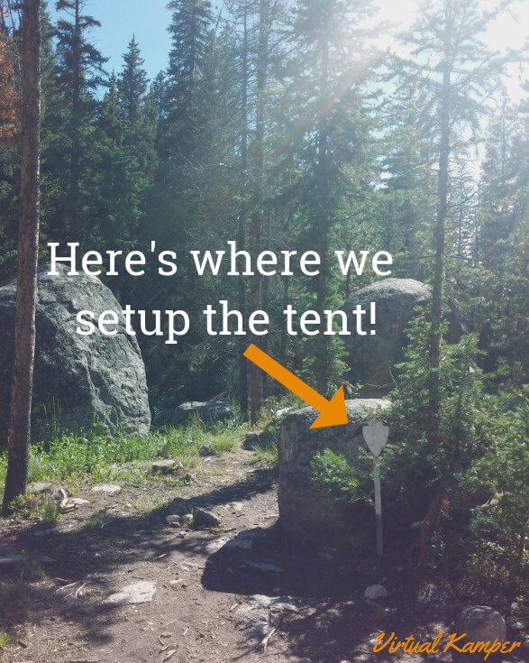 Twinberry Tent Marker Location