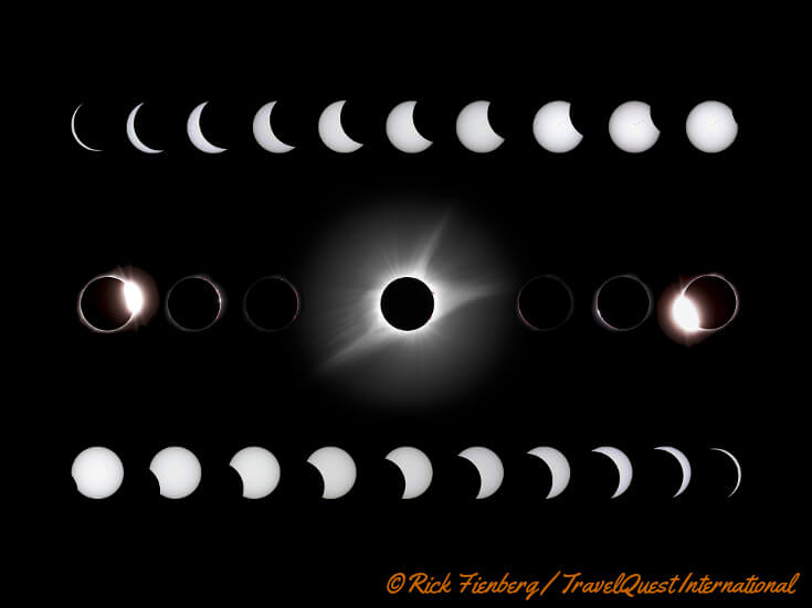 Phases of the total solar eclipse.