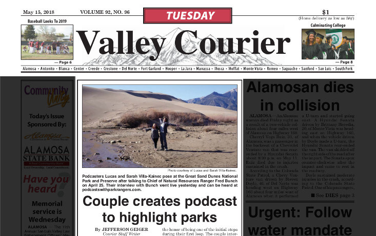 Valley Courier: Couple Creates podcast to highlight parks