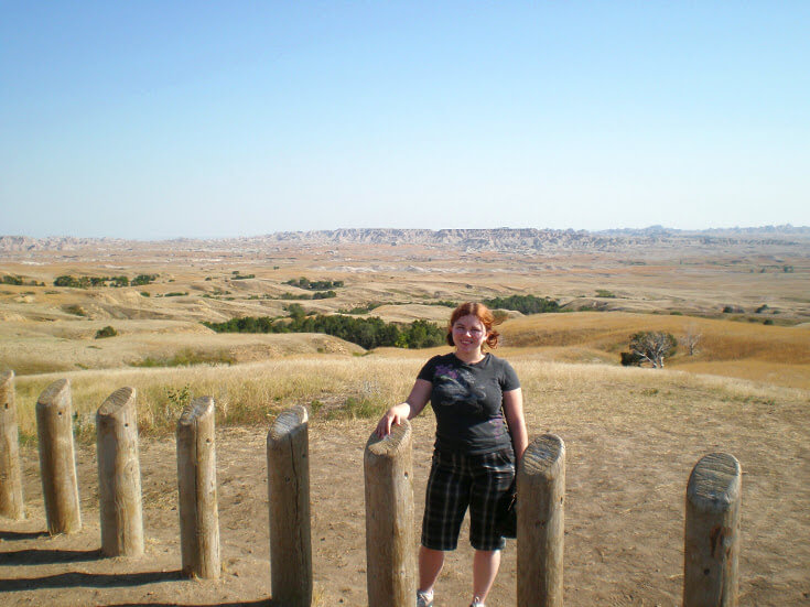 Day Hikes at Badlands National Park: Sarah from the first Badlands NP adventure.
