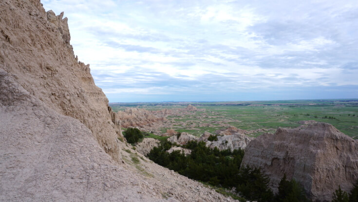 Day Hikes at Badlands National Park: The view from the notch trail!