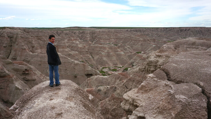 Day Hikes at Badlands National Park: Lucas open hiking in the badlands.