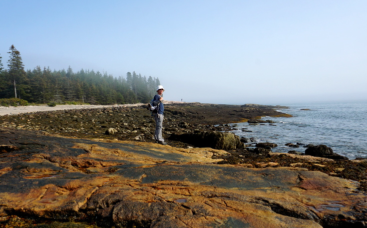 Lucas by the tidepools on the Wonderland Trail.